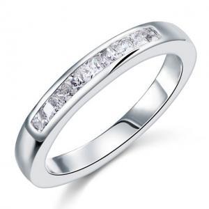 Inel Borealy Argint 925 Semi Eternity White Marimea 7,54