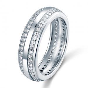 Inel Borealy Argint 925 Created Diamond Verigheta Marimea 81