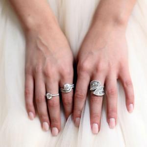 Set Inel şi Verighetă Borealy Argint 925 Luxury Princess Marimea 7,51