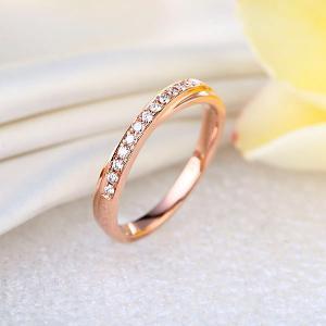 Inelul Borealy Aur Roz 18 K Natural Diamonds Women's Style Twisted Band5