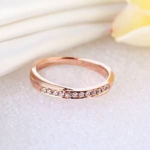 Inelul Borealy Aur Roz 18 K Natural Diamonds Women's Style Twisted Band7