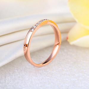 Inelul Borealy Aur Roz 18 K Natural Diamonds Women's Style Twisted Band4