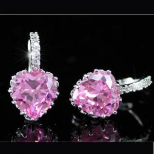 Cercei Borealy Sapphire Heart Pink [4]