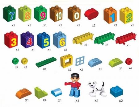 Joc creativ de construit Number Train - Learn to Count [4]