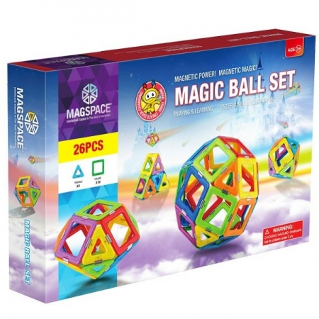 Joc Magnetic Educativ de Constructie 3D Magic Ball Set - Magspace 26 Piese [4]