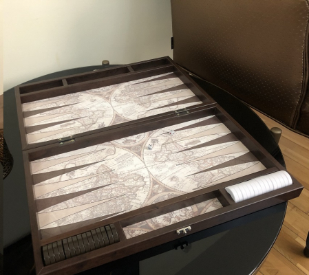Joc Table - Old Map Edition Leather, calitate premium [2]