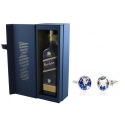 Johnnie Walker Blue Label & Butoni World Map Silver & Blue0