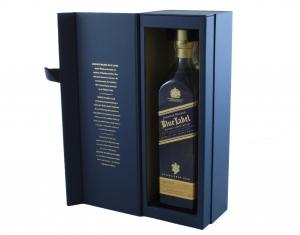 Johnnie Walker Blue Label & Butoni World Map Silver & Blue3