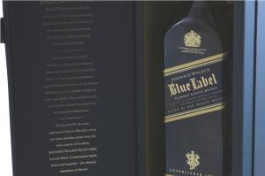 Johnnie Walker Blue Label & Butoni World Map Silver & Blue5