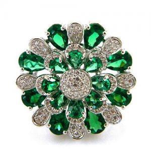 Inel Emerald Luxury by Borealy Argint 9251