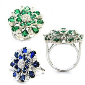 Inel Emerald Luxury by Borealy Argint 9254