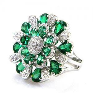 Inel Emerald Luxury by Borealy Argint 9252