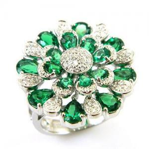 Inel Emerald Luxury by Borealy Argint 9250