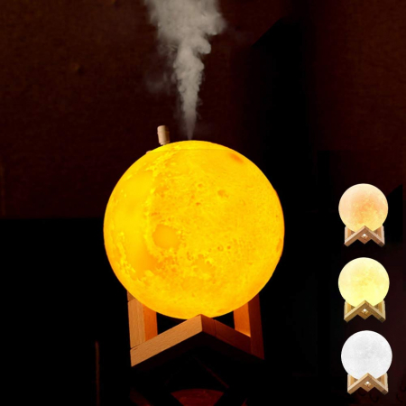 Lampa 3D Moon cu Umidificator si baterie by Borealy5