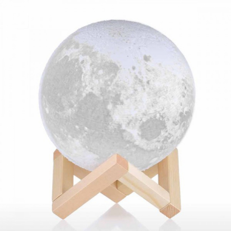 "Lampa Luna 3D Moon, 46 cm circumferinta, & placuta ""I Love You to the Moon and Back""4"