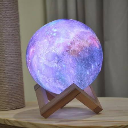 Lampa 3D Multicolor Moon by Borealy for Desk,  46 cm circumferinta (XL)0