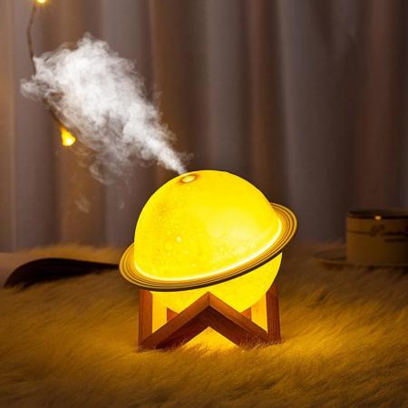 Saturn Lampa 3D cu Umidificator1