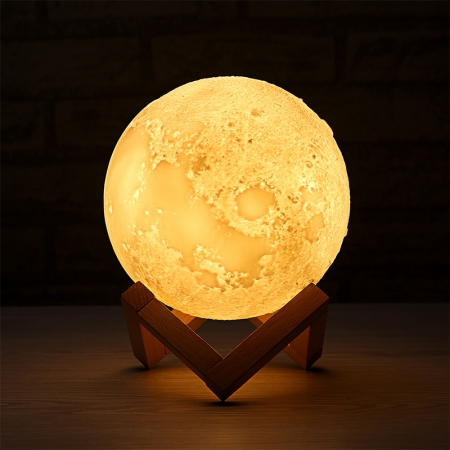 "Lampa Luna 3D Moon, 46 cm circumferinta, & placuta ""I Love You to the Moon and Back""3"