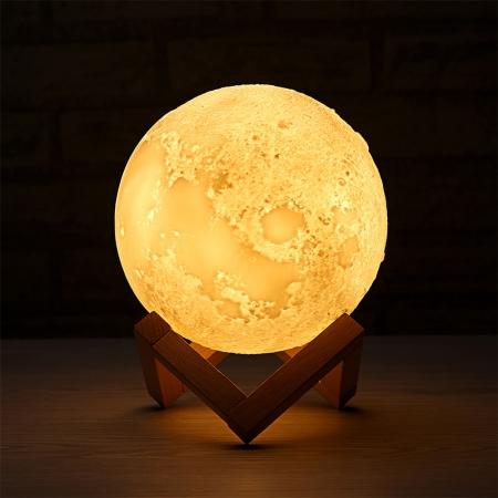 Lampa 3D Moon cu Umidificator 13 cm7