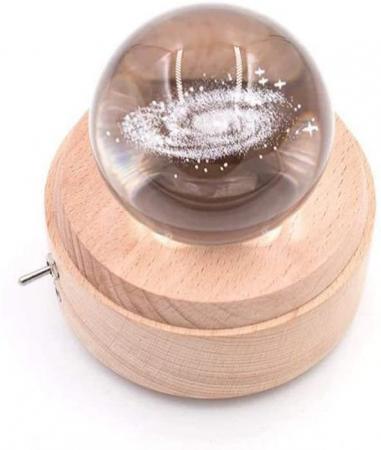 Lampa Cristal Calea Lactee 3D Rotativa si Muzicala7