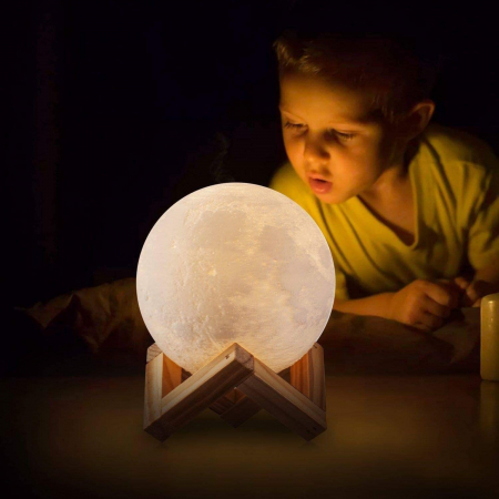 Lampa Luna 3D Moon by Borealy Desk5