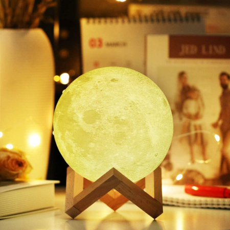Lampa Luna 3D Moon by Borealy Desk1