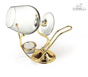 Încălzitor de cognac placat cu aur by Chinelli - Made in Italy0