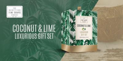 Luxurious Gift Esarfa Casmir, Mănuşi Piele naturală & Cosmetice Coconut & Lime Scottish Fine Soaps - personalizabil5