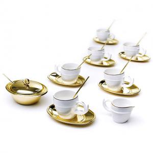 Luxury Gold Coffee Set For Six by Chinelli - Made in Italy0