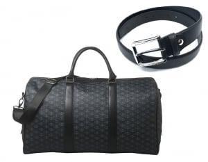 Luxury Travel Bag Christian Lacroix si Curea piele naturala - personalizabil1