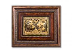 Luxury World Map Painting by Credan - Gold Plated - Made in Spain0