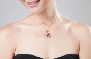 Luxury Ametist 3,15 carate Colier Argint 925 [1]
