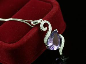 Luxury Ametist 3,15 carate Colier Argint 925 [2]