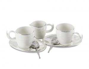 Luxury Coffee Set for 2 by Chinelli - Made in Italy