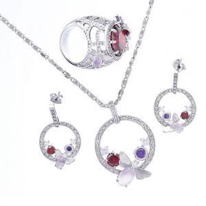 Set Borealy Medalion, Cercei si Inel Luxury Paradise0