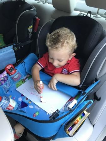 Masuta Calatorie / Tavita ROZ de copii pentru masina si carut KIDSMARTER. Perfecta pentru joaca, mancare, desen, cand sunteti pe drum [4]