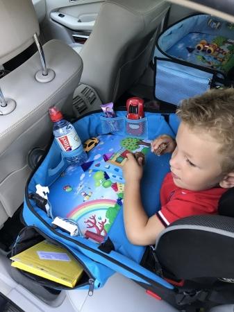 Masuta Calatorie / Tavita ROZ de copii pentru masina si carut KIDSMARTER. Perfecta pentru joaca, mancare, desen, cand sunteti pe drum [5]