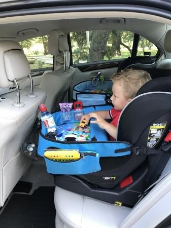Masuta Calatorie / Tavita ROZ de copii pentru masina si carut KIDSMARTER. Perfecta pentru joaca, mancare, desen, cand sunteti pe drum [3]