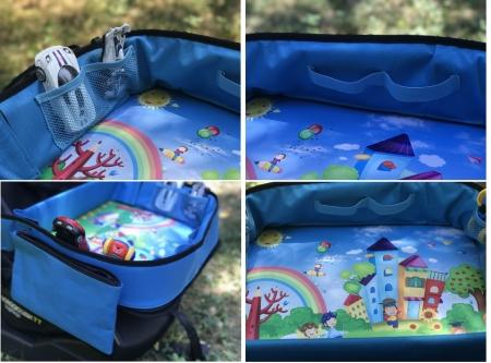 Masuta Calatorie / Tavita ROZ de copii pentru masina si carut KIDSMARTER. Perfecta pentru joaca, mancare, desen, cand sunteti pe drum [6]