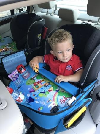 Masuta Calatorie / Tavita ROZ de copii pentru masina si carut KIDSMARTER. Perfecta pentru joaca, mancare, desen, cand sunteti pe drum [2]