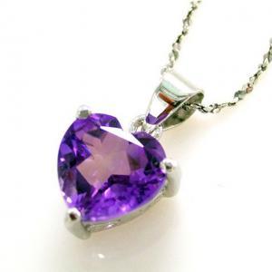Medalion Ametist Inima pietre pretioase naturale 1 Carat2