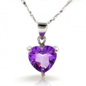 Medalion Ametist Inima pietre pretioase naturale 1 Carat0