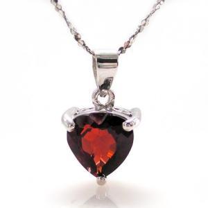 Medalion Granat Natural Inima 2 Carate0