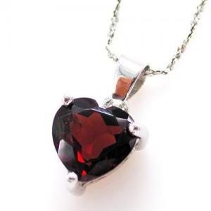 Medalion Granat Natural Inima 2 Carate1