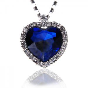 Colier Borealy Sapphire Titanic Heart of the Ocean