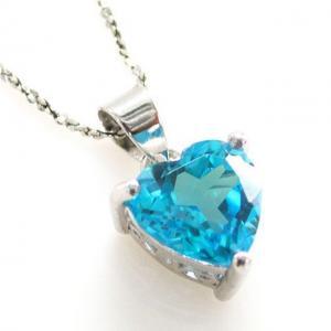 Medalion Topaz Blue Inima pietre pretioase naturale 2 carate1