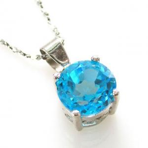 Medalion Topaz Natural Blue Stud 2,25 carate1