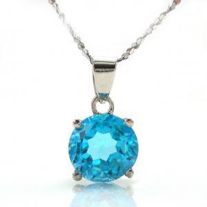 Medalion Topaz Natural Blue Stud 2,25 carate0