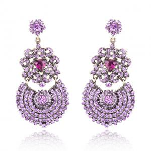 Cercei Borealy Simulated Sapphire Chandelier Purple Countess2