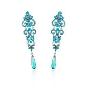 Cercei Chandelier Crystal Blue1